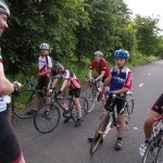 Youngsters at a Heanor Clarion Go-ride training session